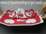 Love Heart Pop Up Card Valentine S Day Pop Up Card Twisting Hearts Tutorial