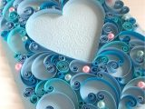 Love Her Ka Greeting Card Quilling Card Quilled Heart Wedding Anniversary Gift