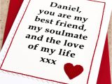 Love Of My Life Card Love Of My Life Personalised Anniversary Card by Jenny