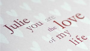 Love Of My Life Card Personalised Love My Life Card for Him Her by