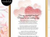 Love Poem for Wedding Card Bride to Groom Gifts Wedding Day Poem Husband Wedding
