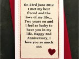 Love Quotes for Him to Write In A Card when We Met Personalised Anniversary Card with Images