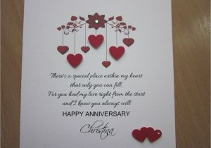 Love U Card for Husband Details About Personalised Handmade Anniversary Engagement