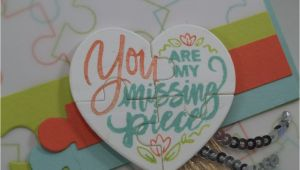 Love U to Pieces Card Puzzle Pieces Inspiration Stampin Up Valentine Cards