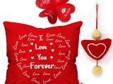 Love Words for Valentine Card Indigifts Valentine Gifts for Girlfriend Love Quote Cushion Cover 16×16 Inches 1 Heart Hanging Valentine Gift for Boyfriend Love Valentine Day