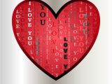 Love Words for Valentine Card Love Card Heart Shape with I Love You Text