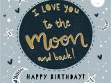 Love You to the Moon and Back Card Happy Birthday I Love You to the Moon and Back
