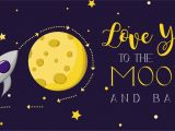 Love You to the Moon and Back Card Love You to the Moon and Back Gift Card Valentine S Day