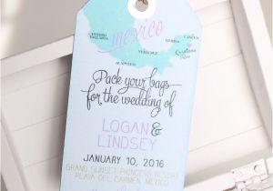 Luggage Tag Invitation Template 17 Best Ideas About Destination Wedding Invitations On