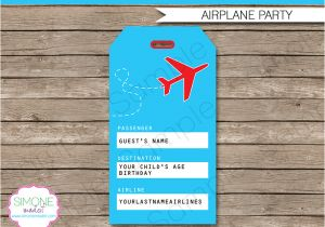 Luggage Tag Invitation Template Airplane Party Luggage Tags Favor Tags Thank You Tags