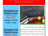 Lunch and Learn Flyer Template Lunch and Learn Manage Your Student Loans Florida