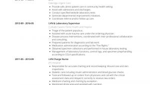 Lvn Student Resume Lvn Resume Samples and Templates Visualcv