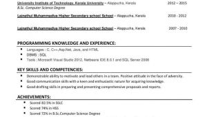 M Sc Fresher Resume format Resume format for M Sc Computer Science Freshers Free