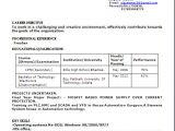 M Tech Cse Fresher Resume format Resume Blog Co Sample Resume format In Word Doc for A B