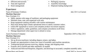 Machine Operator Resume Sample Machine Operator Resume Examples Created by Pros