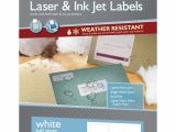 Maco Laser and Inkjet Labels Template 5 1 2 Quot X 8 1 2 Quot White Laser Inkjet Weather Resistant