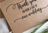 Maid Of Honour Thank You Card Wedding Party Thank You Card Wedding Party Gifts Wedding