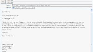 Mail format for Sending Resume for Job format Of Mail for Sending Resume Resume format Example