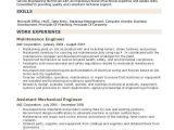 Maintenance Engineer Resume Maintenance Engineer Resume Samples Qwikresume