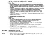 Maintenance Engineer Resume Resume Samples Maintenance Engineer Maintenance Resume