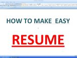 Make A Basic Resume Online How to Make An Simple Resume In Microsoft Word Youtube