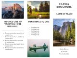 Make A Travel Brochure Template Free Travel Brochure Templates Examples 8 Free Templates