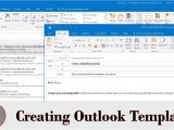 Make An Outlook Email Template Create Email Template In Outlook Youtube