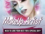 Makeup Artist Flyer Template Free Pin by Alpha Graphs On Flyers Makeup Poster Flyer
