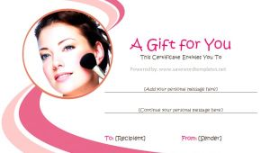 Makeup Gift Certificate Template Gift Certificate Templates