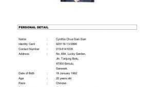 Malaysia Simple Resume format Resume format Malaysia Job Application Bestsellerbookdb