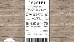 Mall Scavenger Hunt Invitation Template Mall Scavenger Hunt Favor Tags Receipt Tags Thank You Tags