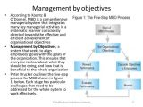 Manage by Objective Template tourism Management