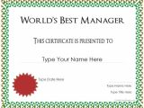 Manager Of the Month Certificate Template Special Certificates Best Manager Award
