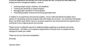 Managment Cover Letter Best Management Cover Letter Examples Livecareer