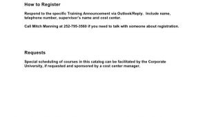 Mandatory Training Email Template Corporate Training and Development Catalog