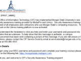 Mandatory Training Email Template Security Awareness Training