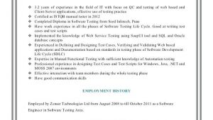Manual Testing 3 Years Experience Sample Resumes Testing Resume Sample for 3 Years Experience Resume Ideas