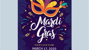 Mardi Gras Flyer Template Free Download Mardi Gras Flyer Template Vector Free Download