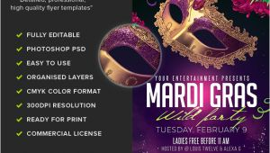 Mardi Gras Flyers Templates Mardi Gras Party Flyer Template 2 Flyerheroes