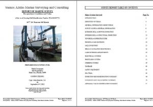 Marine Survey Template Marine Surveying and Inspections for Remote Yacht and Boat