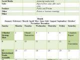 Marketing Activity Calendar Template Calender Template Part 3