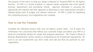 Marketing Agency Proposal Template Advertising Agency Rfp Template