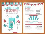 Marketing Booklet Template Marketing Brochure Cover Template Vector Free Vector In