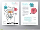 Marketing Booklet Template Marketing Brochure Templates Set 1 Template Pinterest