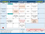 Marketing event Calendar Template 2018 Marketing Calendar Template In Excel Free Download