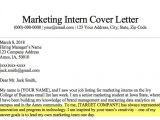 Marketing Internships Cover Letter Marketing Intern Cover Letter Sample Guide Resume