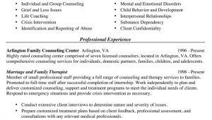 Marriage and Family therapist Resume Sample Work Context 21 1013 00
