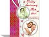 Marriage Anniversary Card with Photo Alwaysgift Wedding Anniversary Mom Dad Greeting Card