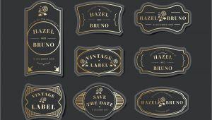 Marriage Card Logo Free Download Vintage Wedding Invitation Label Vector Set Free Image by