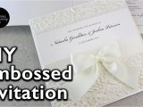 Marriage Card Printing Machine Youtube How to Make A Romantic Embossed Wedding Invitation Diy Wedding Invitations